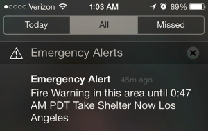 LAPD WEA fire warning
