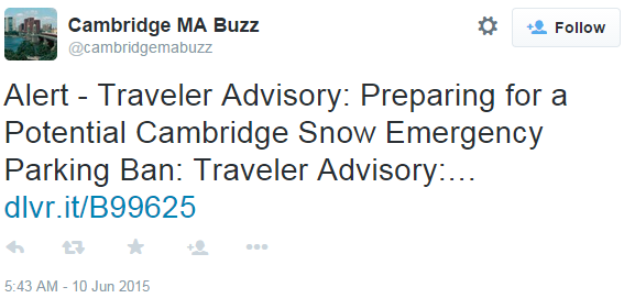 Cambridge snow advisory