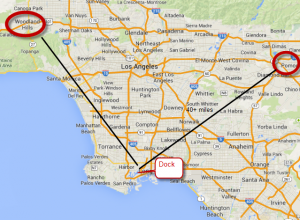 LA Fire map